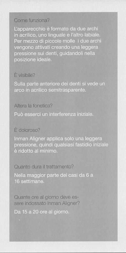 Allineatore Ortodontico Removibile Inman Aligner