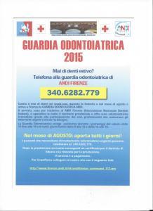 guardia odontoiatrica ANDI Firenze locandina